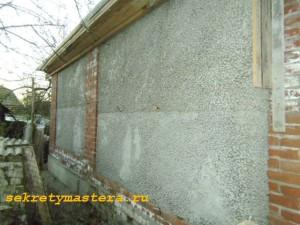 Стена из керамзитобетона