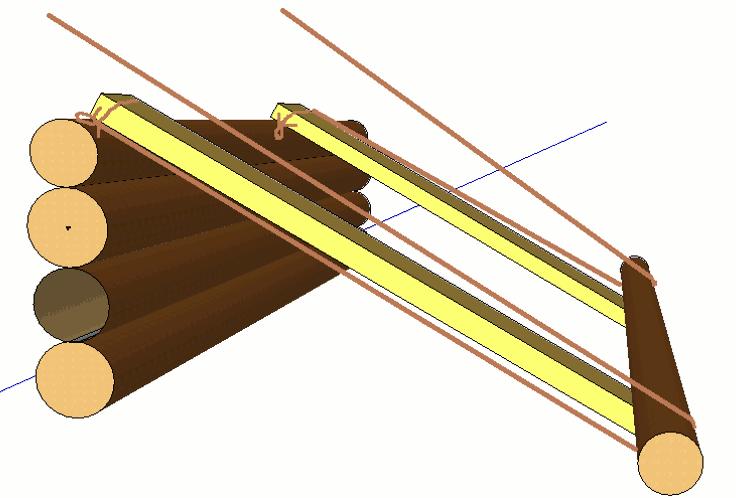 Как поднять брёвна на сруб и установить их на место