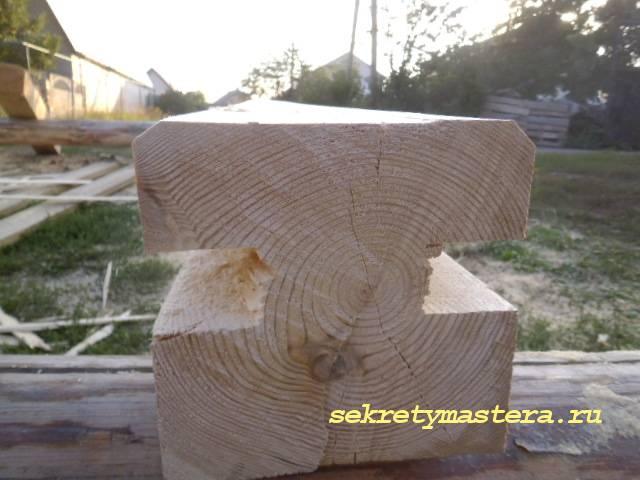 Установка сруба на фундамент